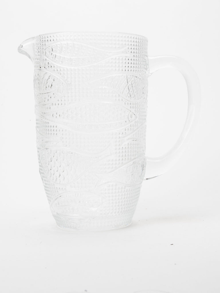 Fish Clear Glass Jug
