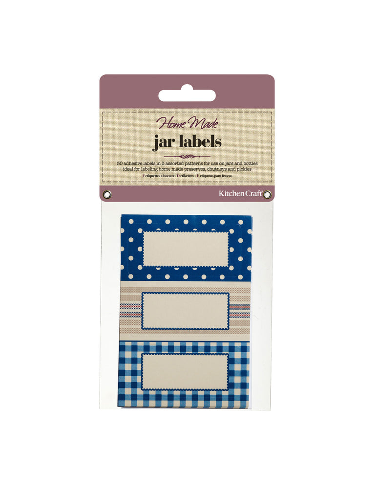 Jar Labels - Stitched Stripes