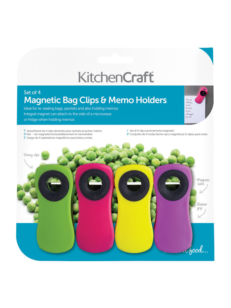 Magnetic Bag Clips Set/4 - Car & Kitchen