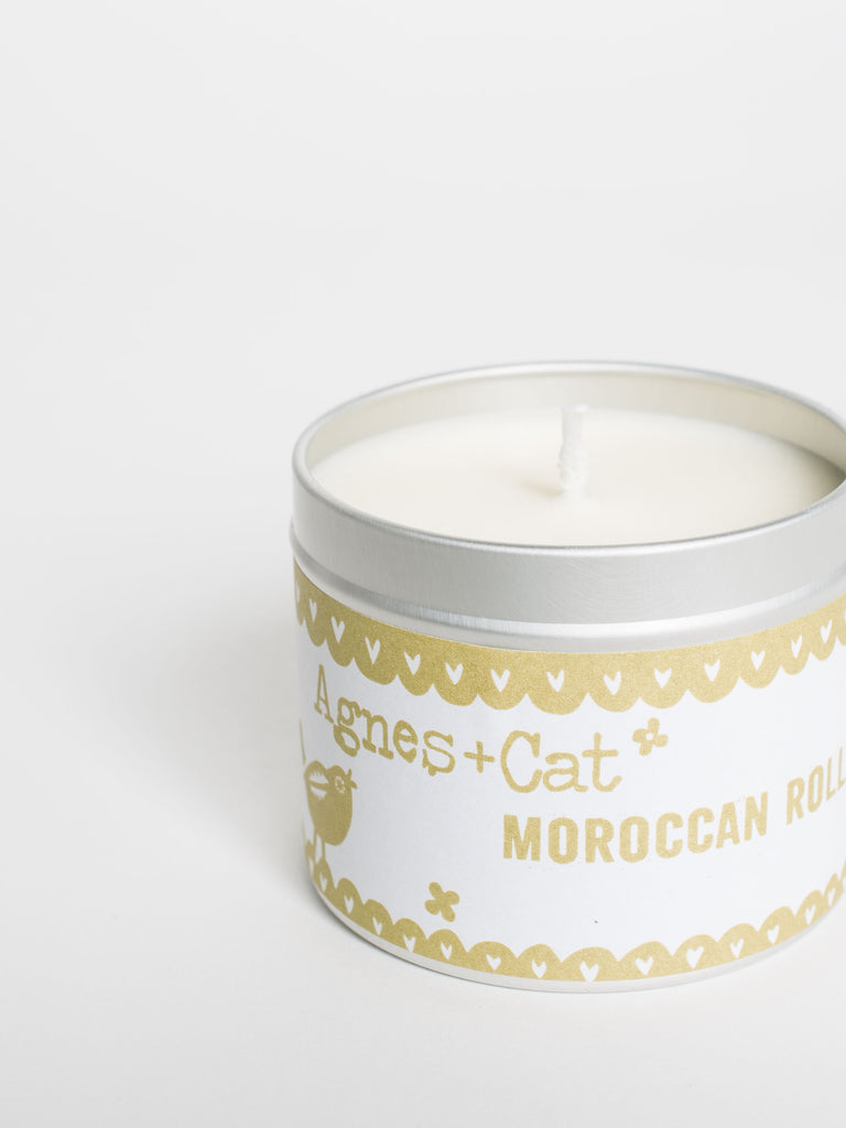 Moroccan Roll Soy Candle Tin - Car & Kitchen