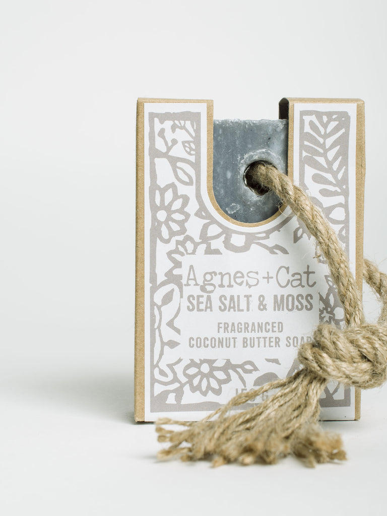 Sea Salt & Moss Soap On A Rope - Car & Kitchen