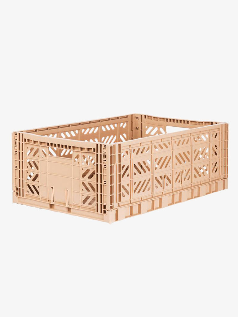 Storage Crate Large - Milk Tea