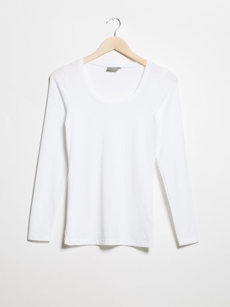 Pamila Long Sleeve Top- White - Car & Kitchen