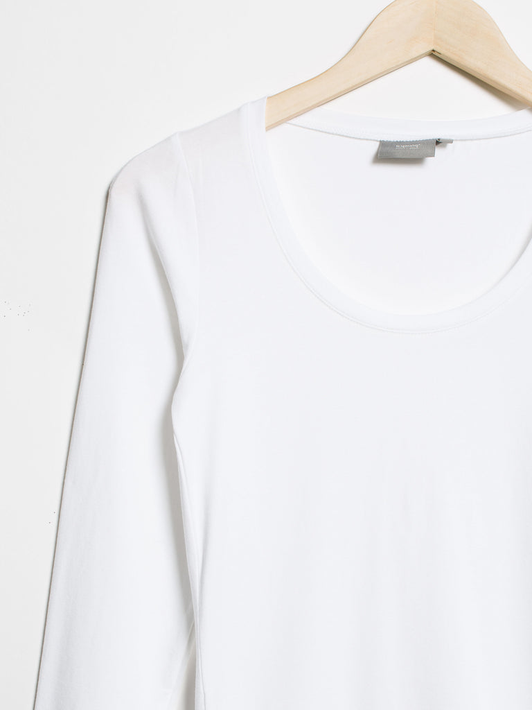 Pamila Long Sleeve Top- White