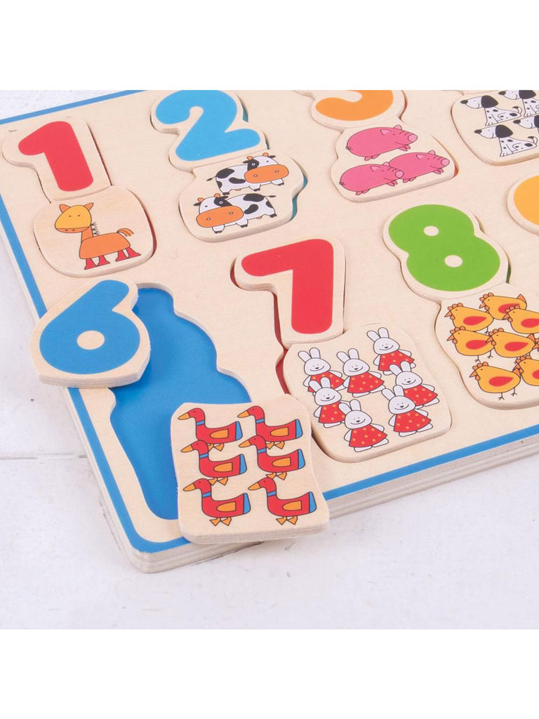 Number and Colour Matching Puzzle - Car & Kitchen