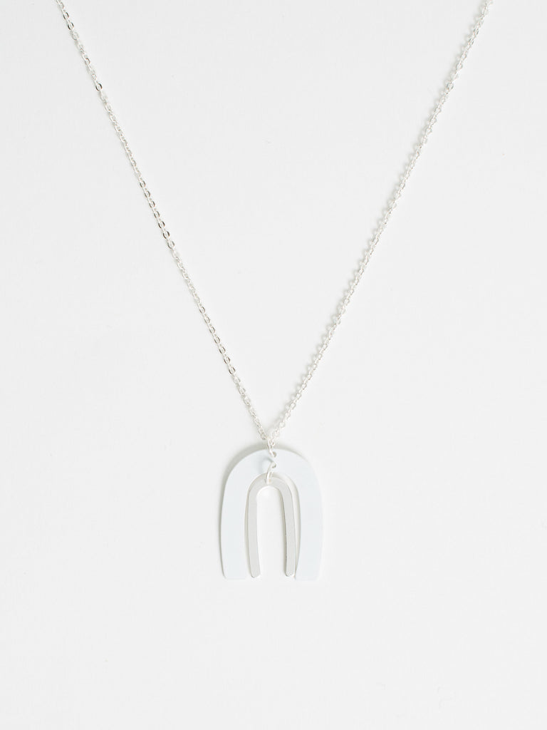 Jared Coil Arc Two Tone Necklace