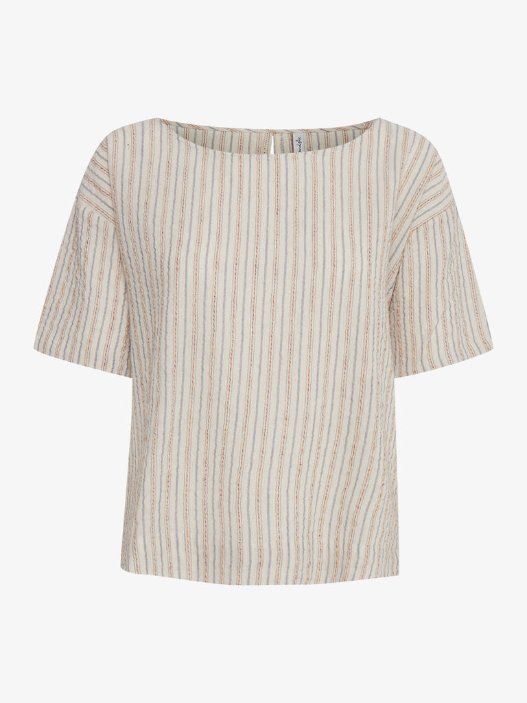 Powa Striped Linen Blouse
