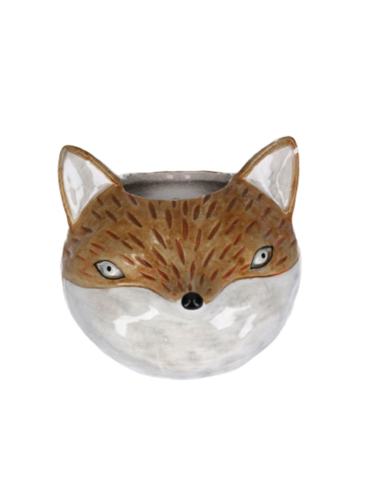 Ceramic Mini Fox Head Wall Plaque