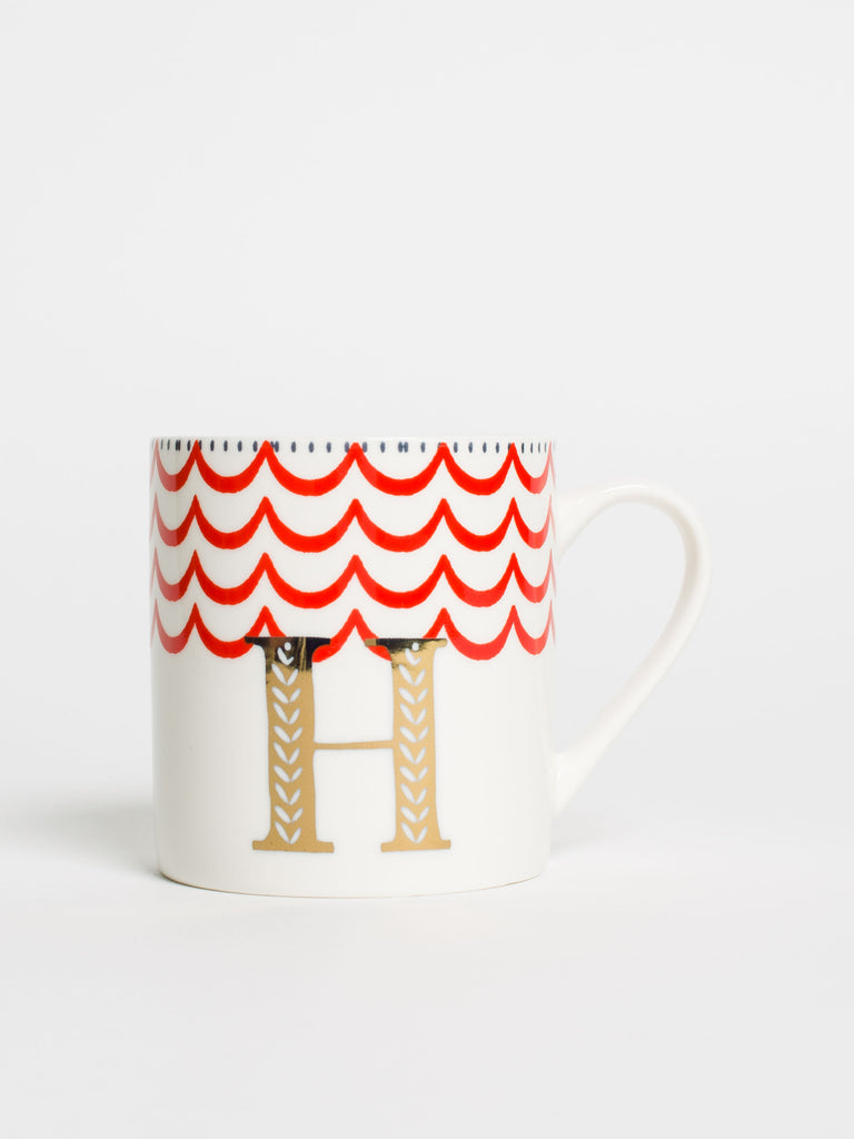 Alphabet Can Mug H - Car & Kitchen