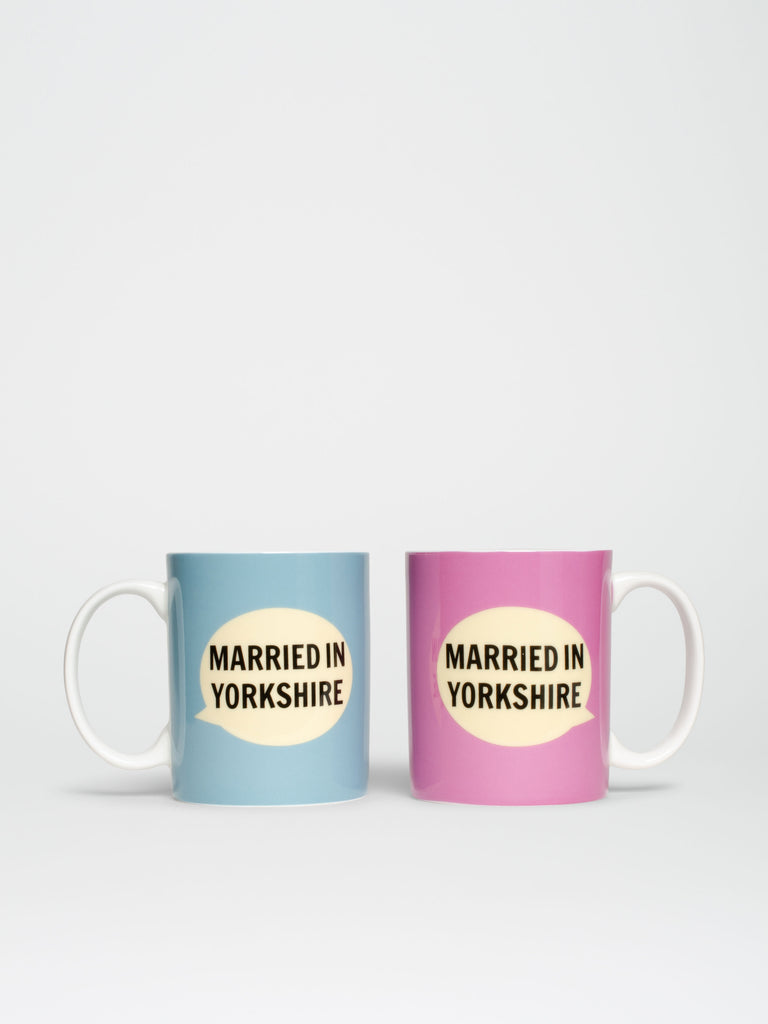 Married In Yorkshire Set Of Two Mugs - Car & Kitchen