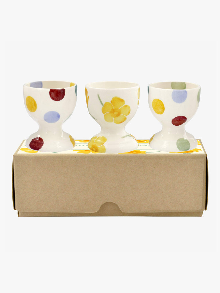 Buttercup Scattered Set Of 3 Egg Cups