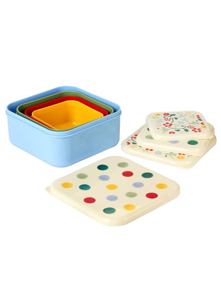 Polka Dot Snack Tubs - Set Of 4