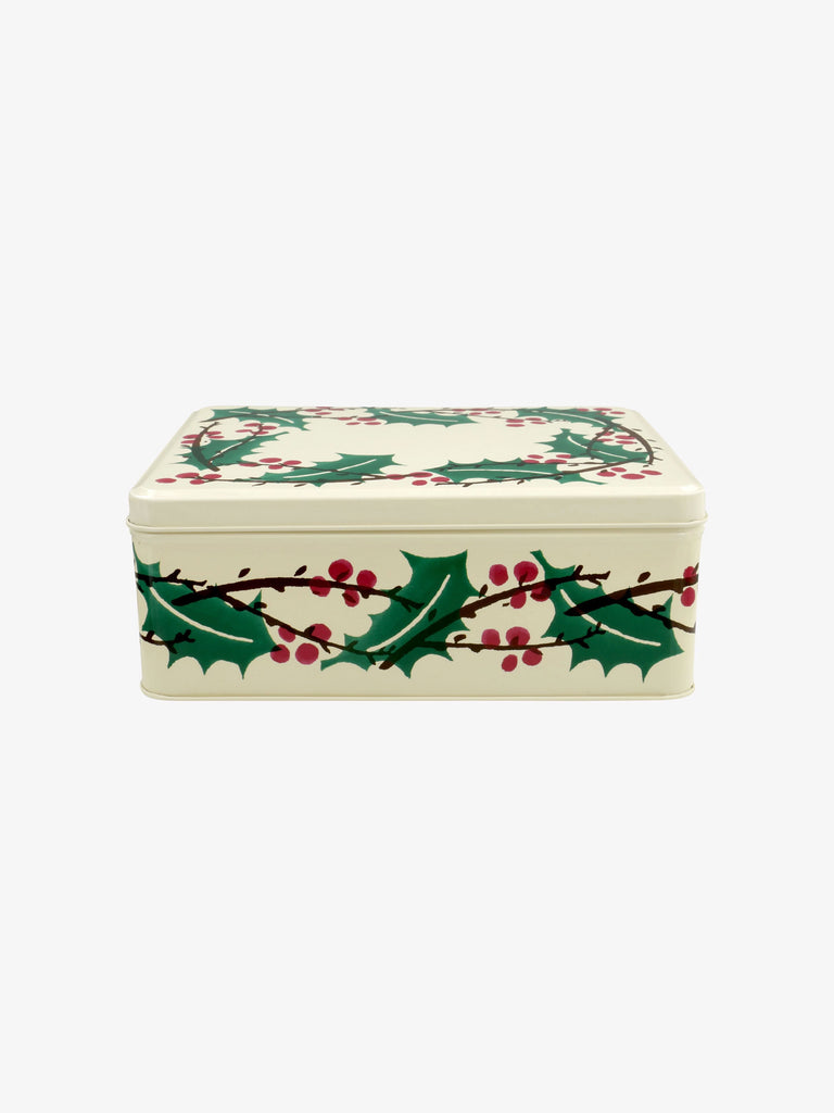 Winterberry Rectangular Shallow Tin