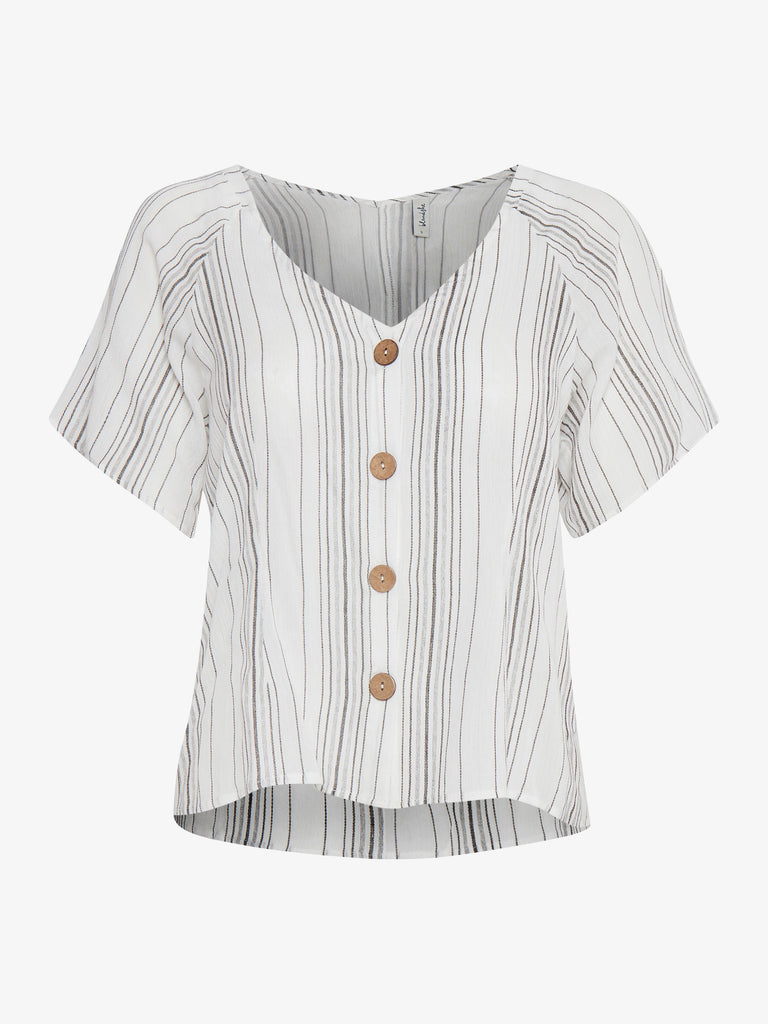 Pintus Button Through Striped Blouse