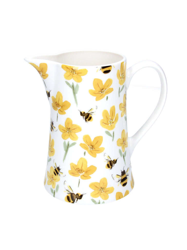 Ceramic Buttercups & Bees Jug Medium