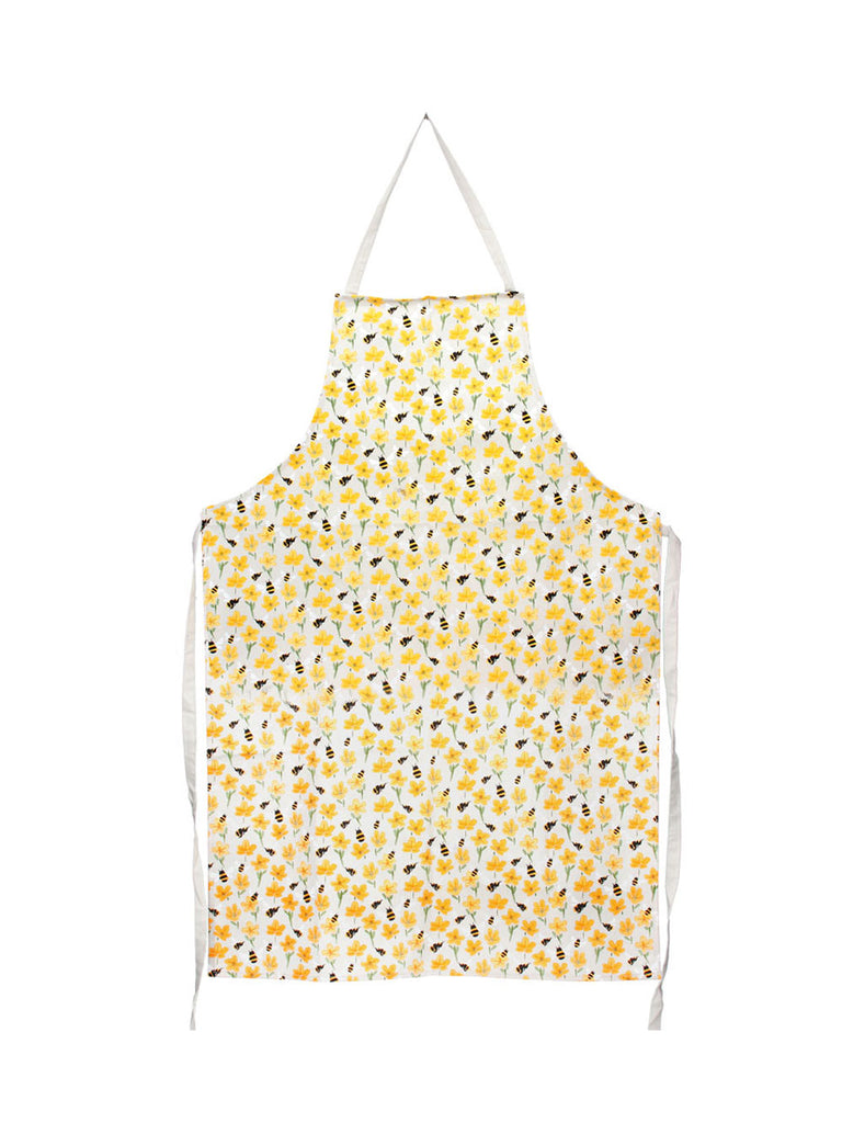 Fabric Apron with Buttercups & Bees