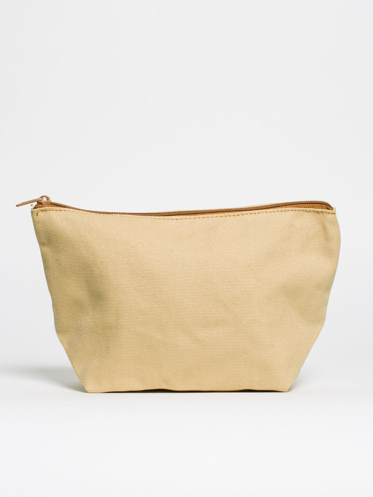 Sand Canvas Zip Pouch - Car & Kitchen