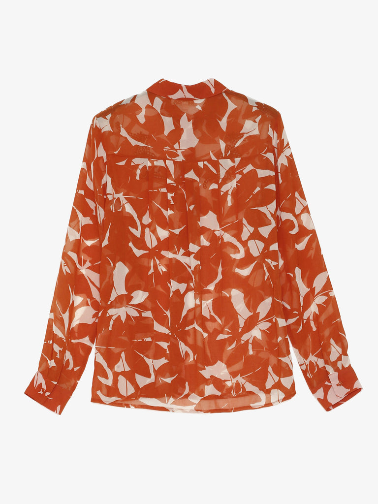 Brick Red Albane Blouse