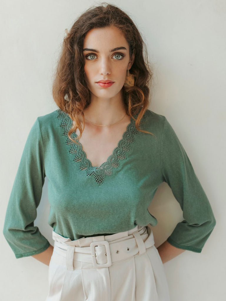 Green Ambroise Top