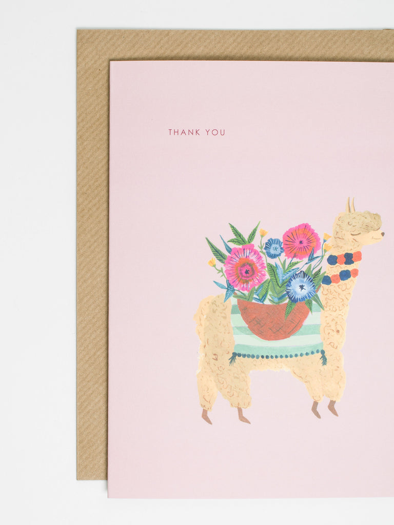 Alpaca Thank You Card - Car & Kitchen