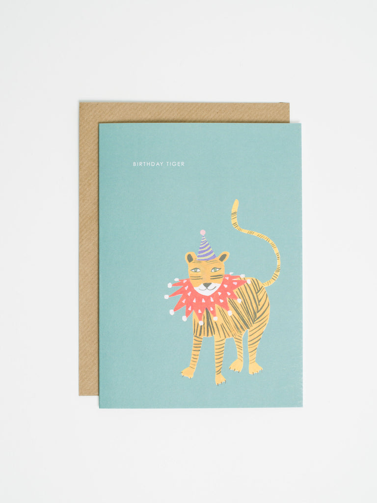 Birthday Tiger With Ruff Card