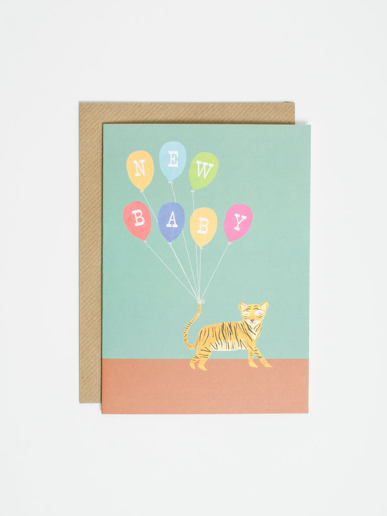 Tiger New Baby Card