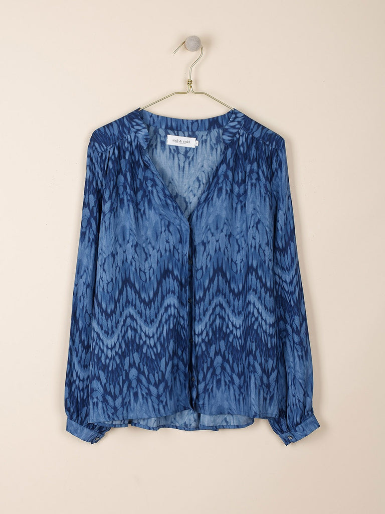 Indigo Tie Dye Effect Fluid Tunic