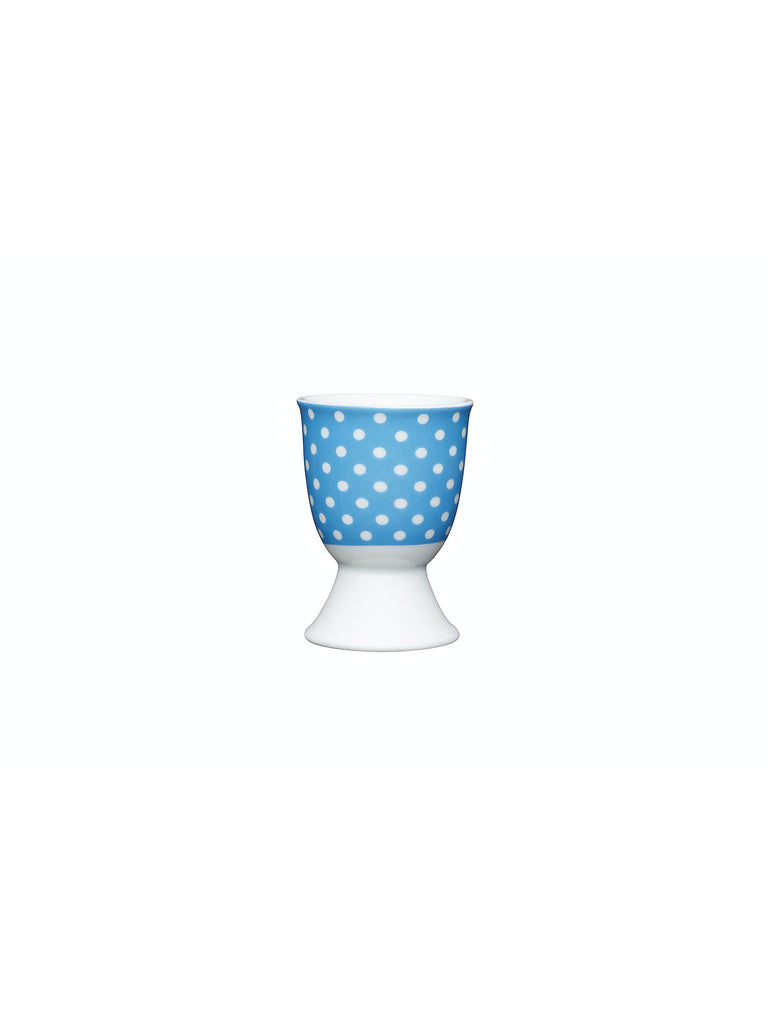 Blue Polka Dot Egg Cup