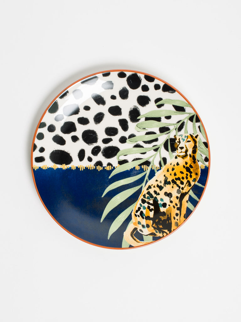 Cheetah Side Plate - Car & Kitchen