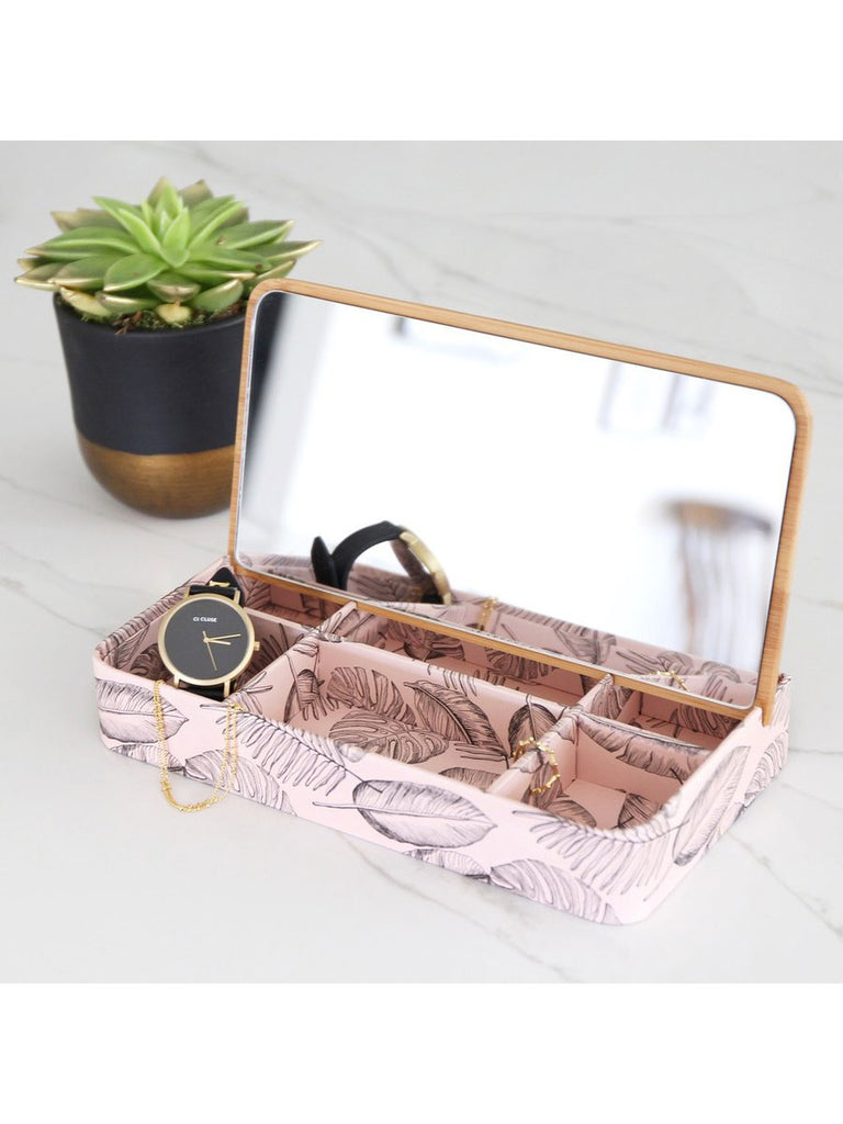 Bamboo Lid Jewellery Box Botanical - Car & Kitchen