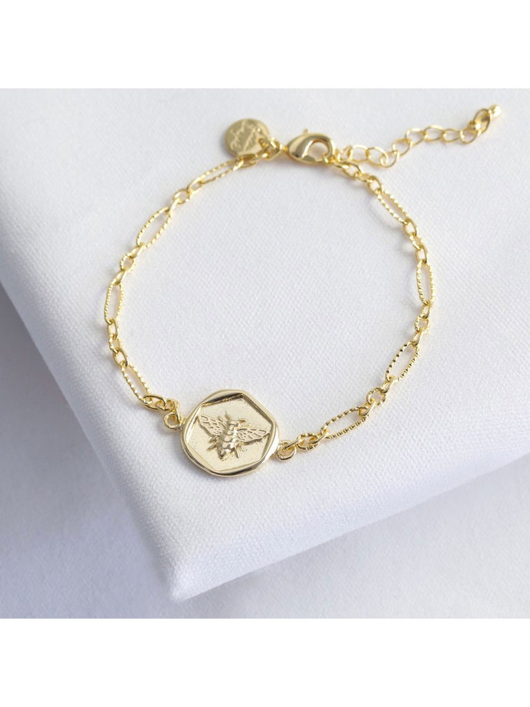 Gold Wax Seal Bee Bracelet - Car & Kitchen