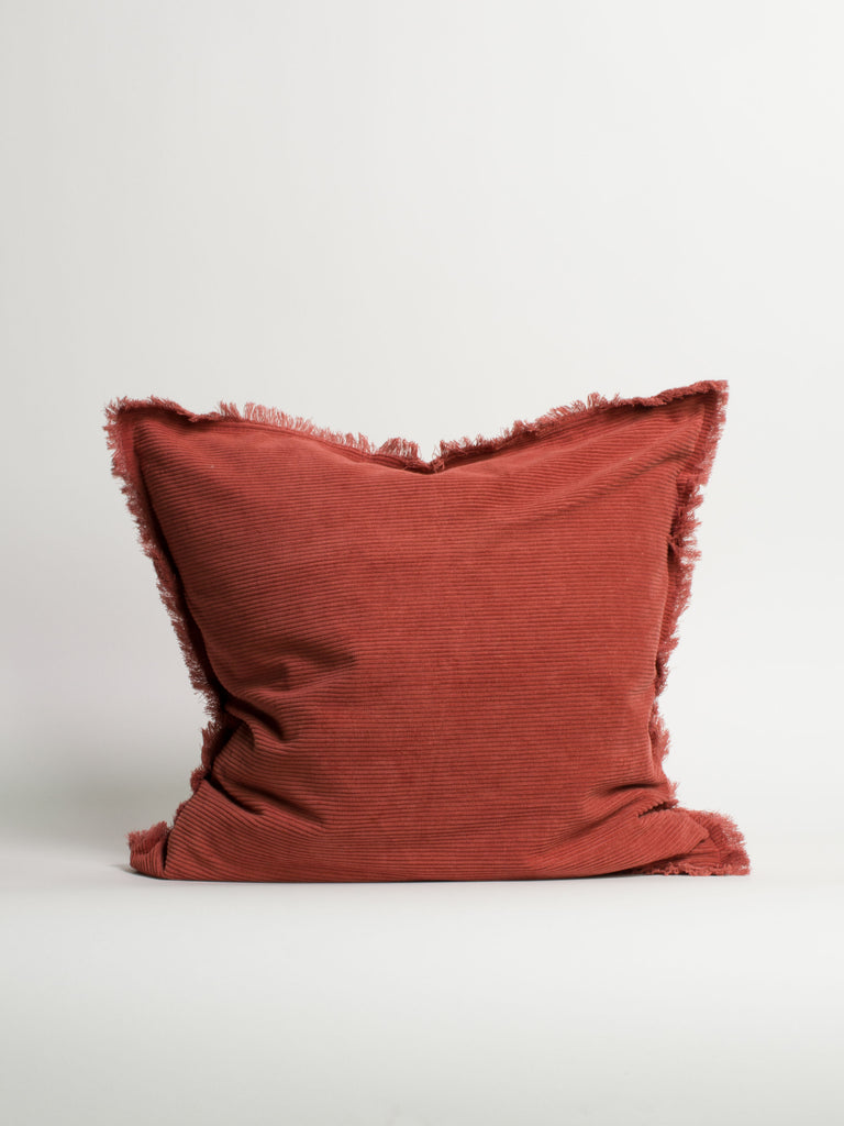 Corduroy Cushion With Fringe - Car & Kitchen