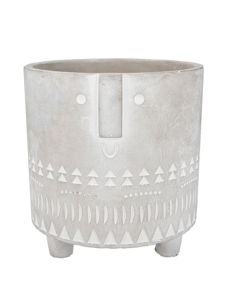 Concrete Face Pot Cover Large