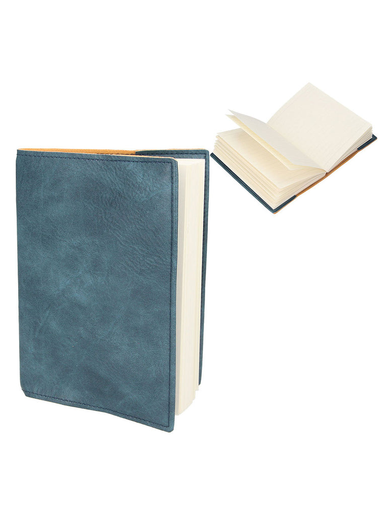 Petrol Blue Leather Effect A6 Notebook