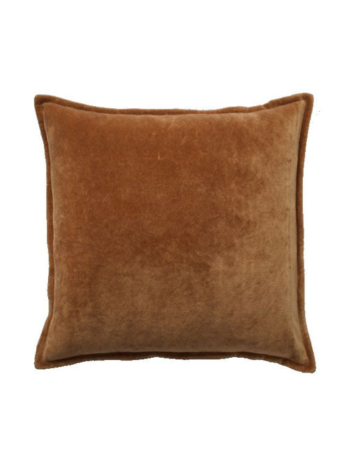 Velvet Ombré Cushion - Soft Rust