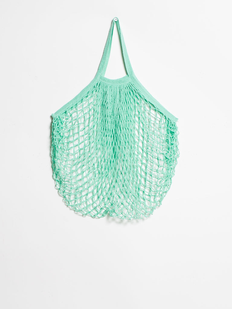 Sea Green French Style String Shopping Bag