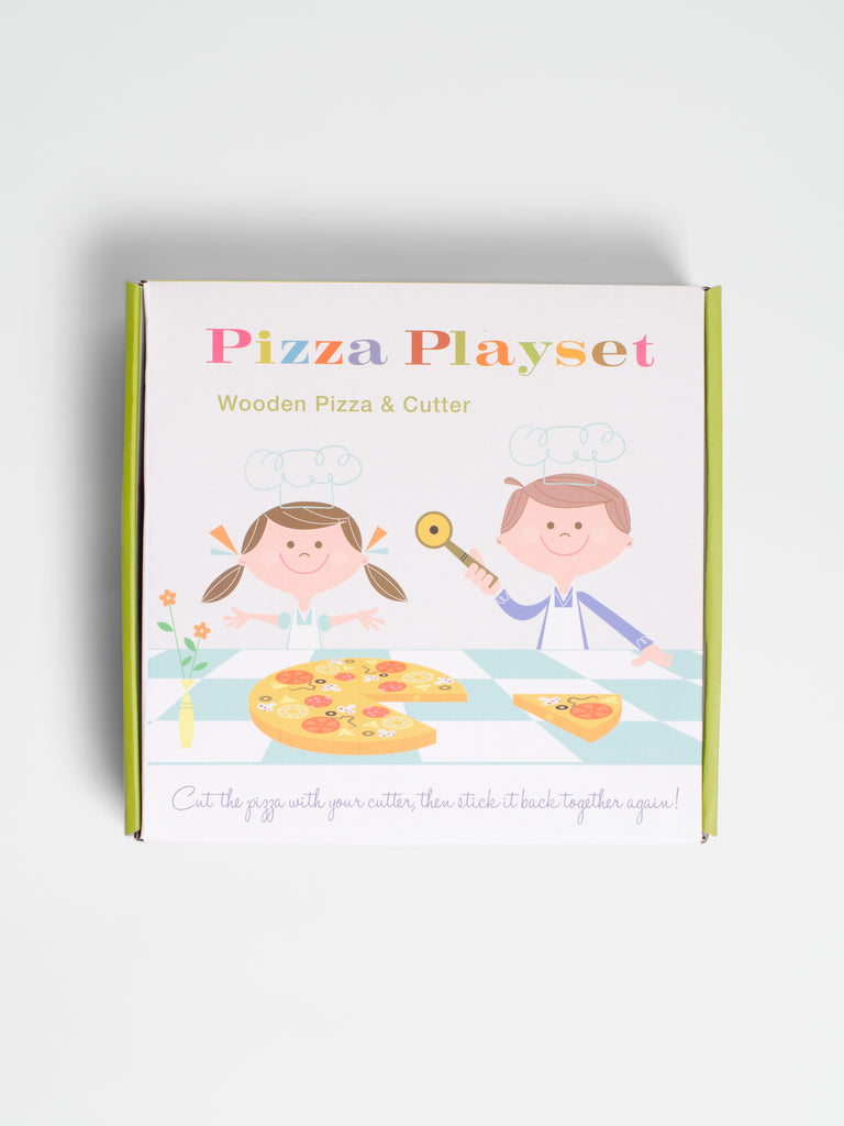 Wooden Toy Pizza In Box