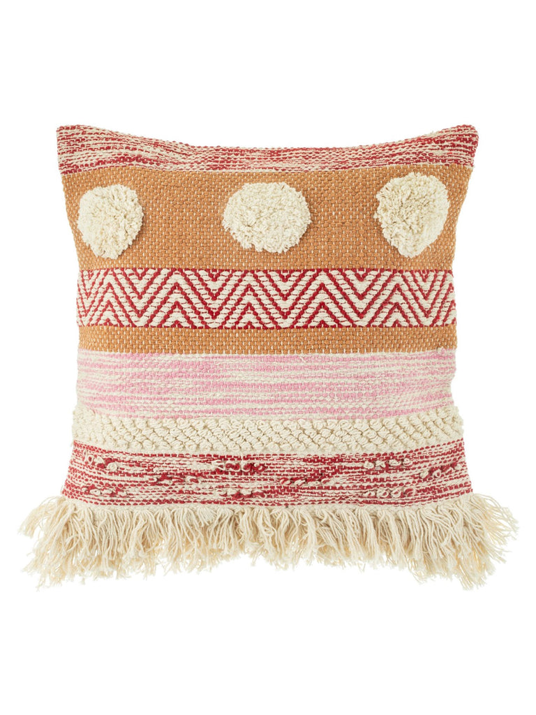 Nevada Pink Woven Stripe Cushion - Car & Kitchen