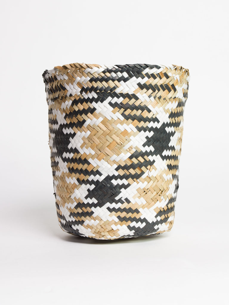 Seagrass Tribal Pattern Storage Basket - Car & Kitchen