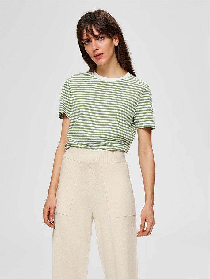 My Perfect Tee Green Stripe