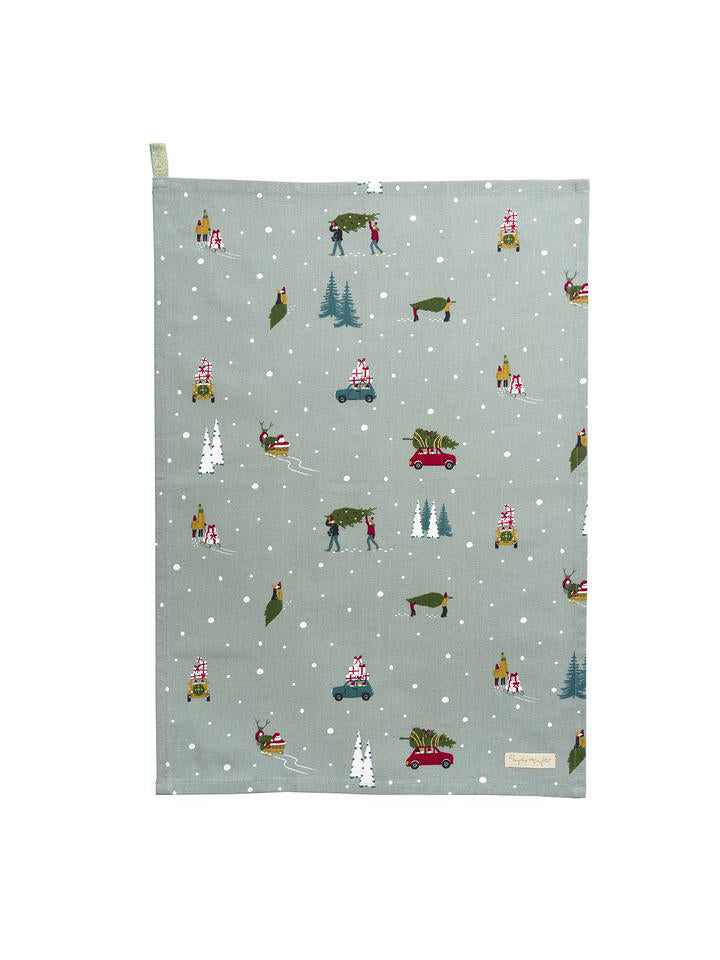 Home For Christmas Tea Towel - Car & Kitchen