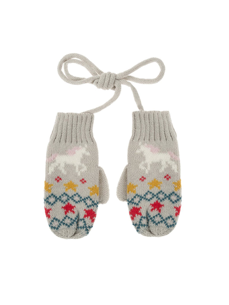 Unicorn Knitted Kids Mittens - Car & Kitchen