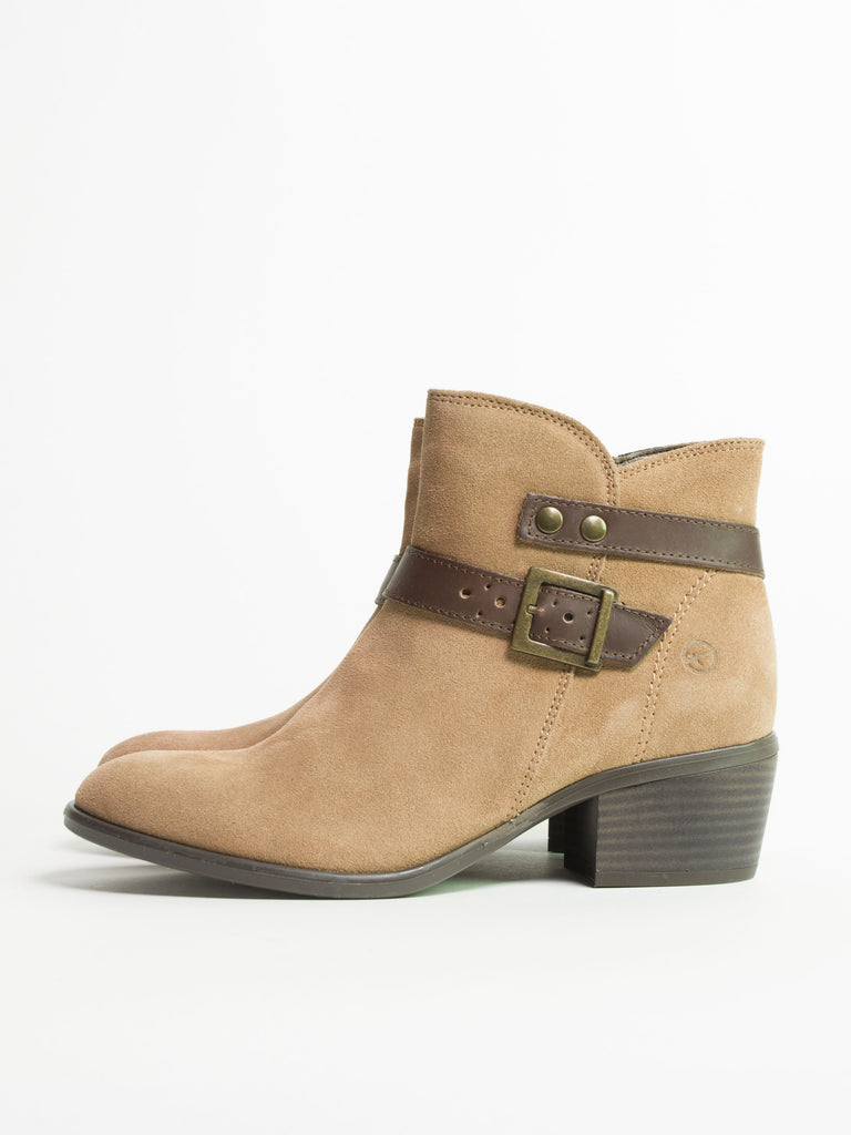 Taupe Espresso Low Heel Boot