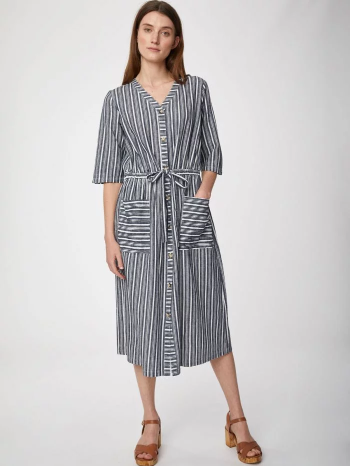 Striped Hemp Catterina Dress