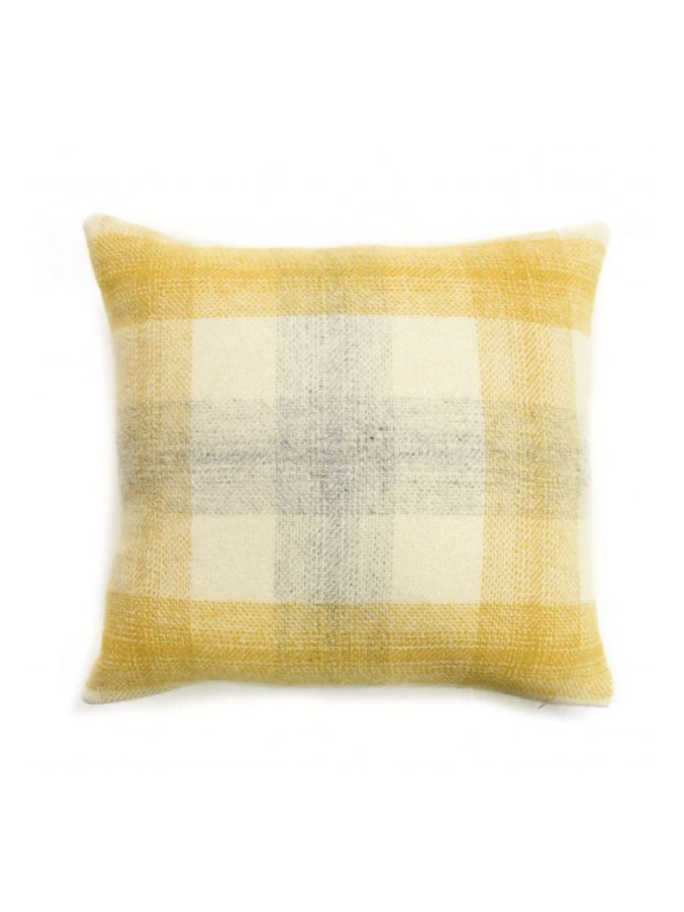 Lifestyle Cushion Meadow Check Yellow