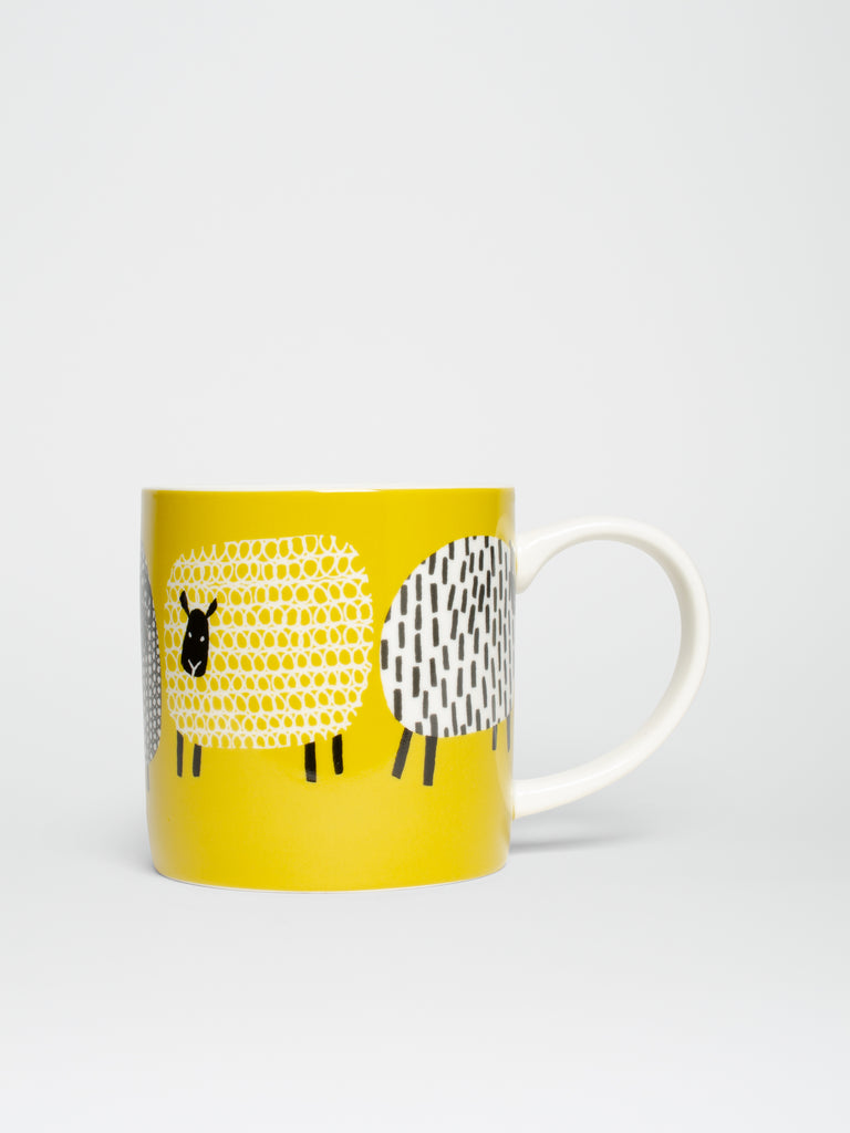 Straight Sided Mug Dotty Sheep