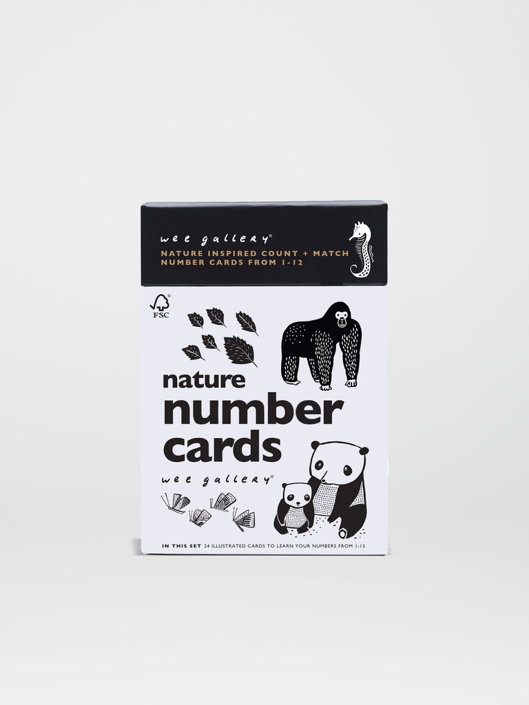 Nature Number Cards - Car & Kitchen