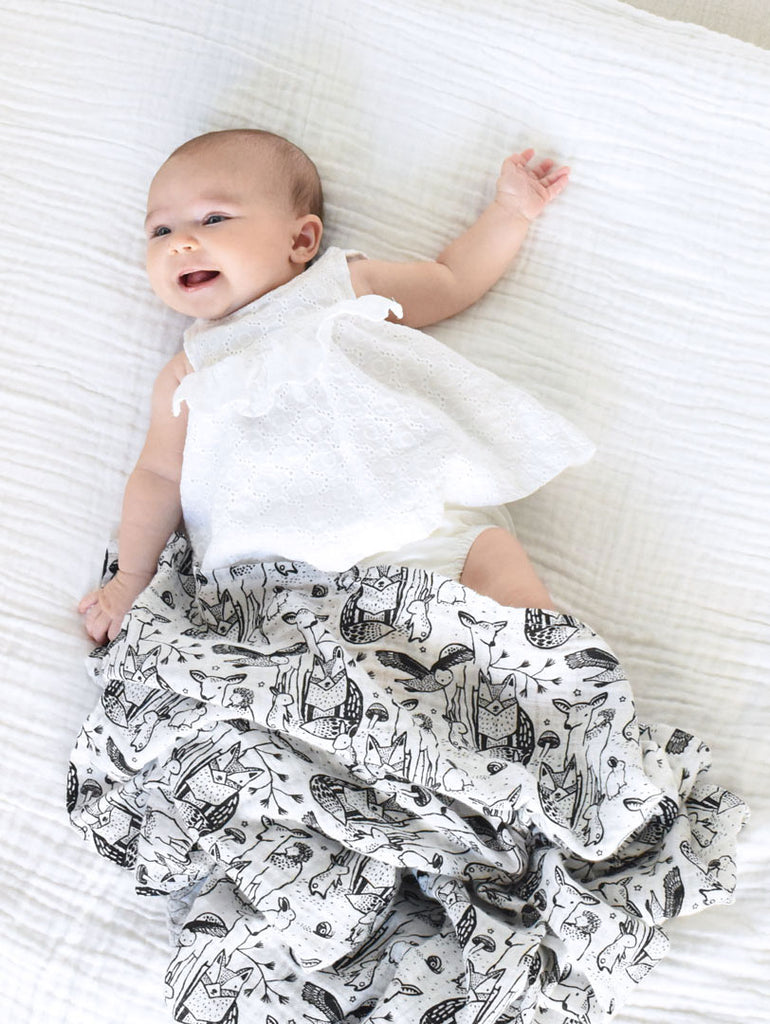 Organic Muslin Swaddle - Forest - Car & Kitchen