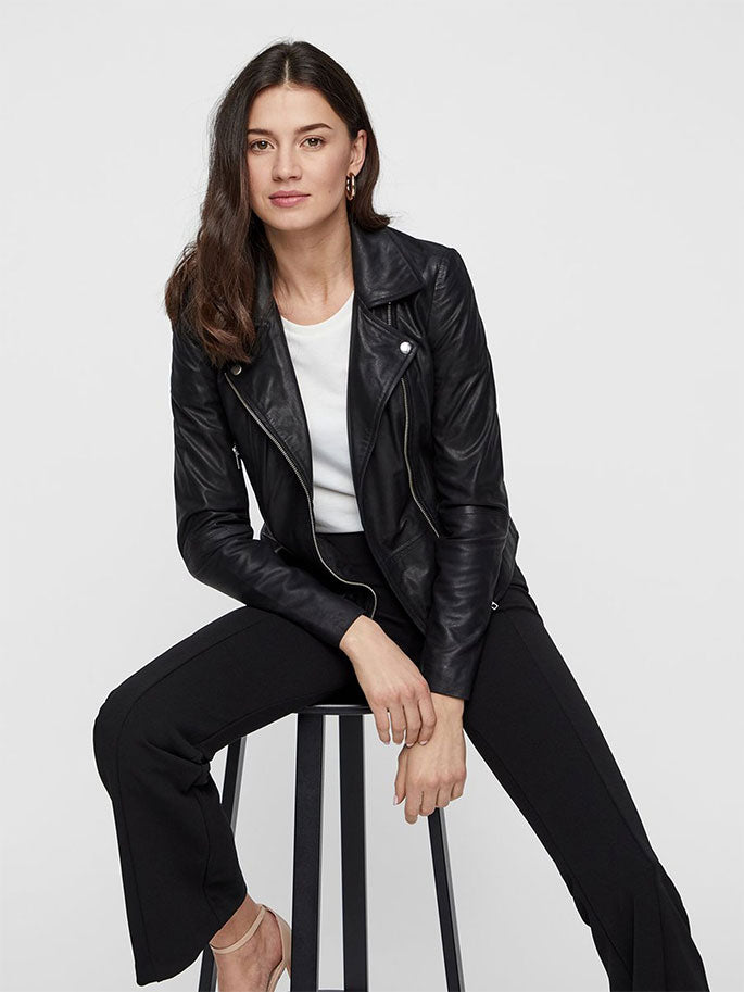 Black Sophie Leather Jacket