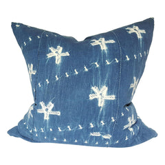 Featured indigo pillow